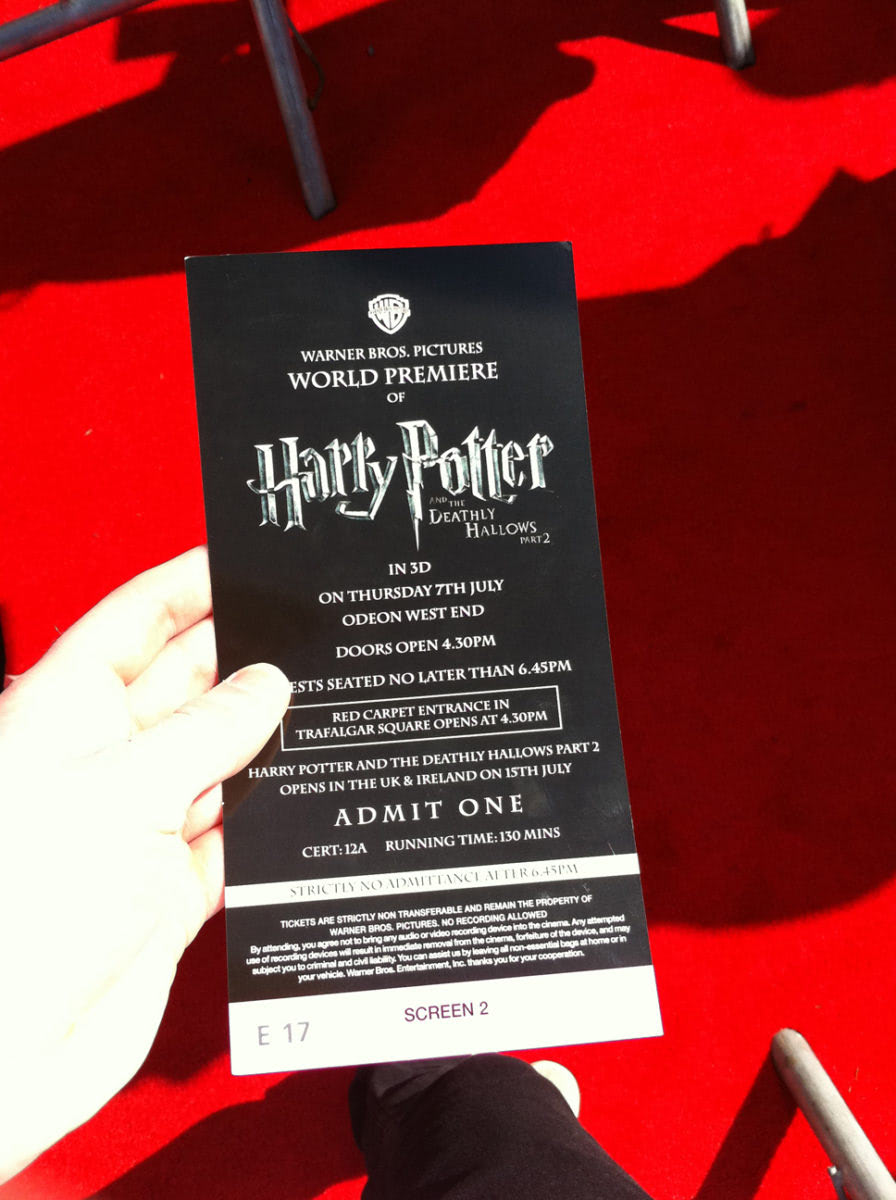 'Deathly Hallows: Part 2' world premiere invitation