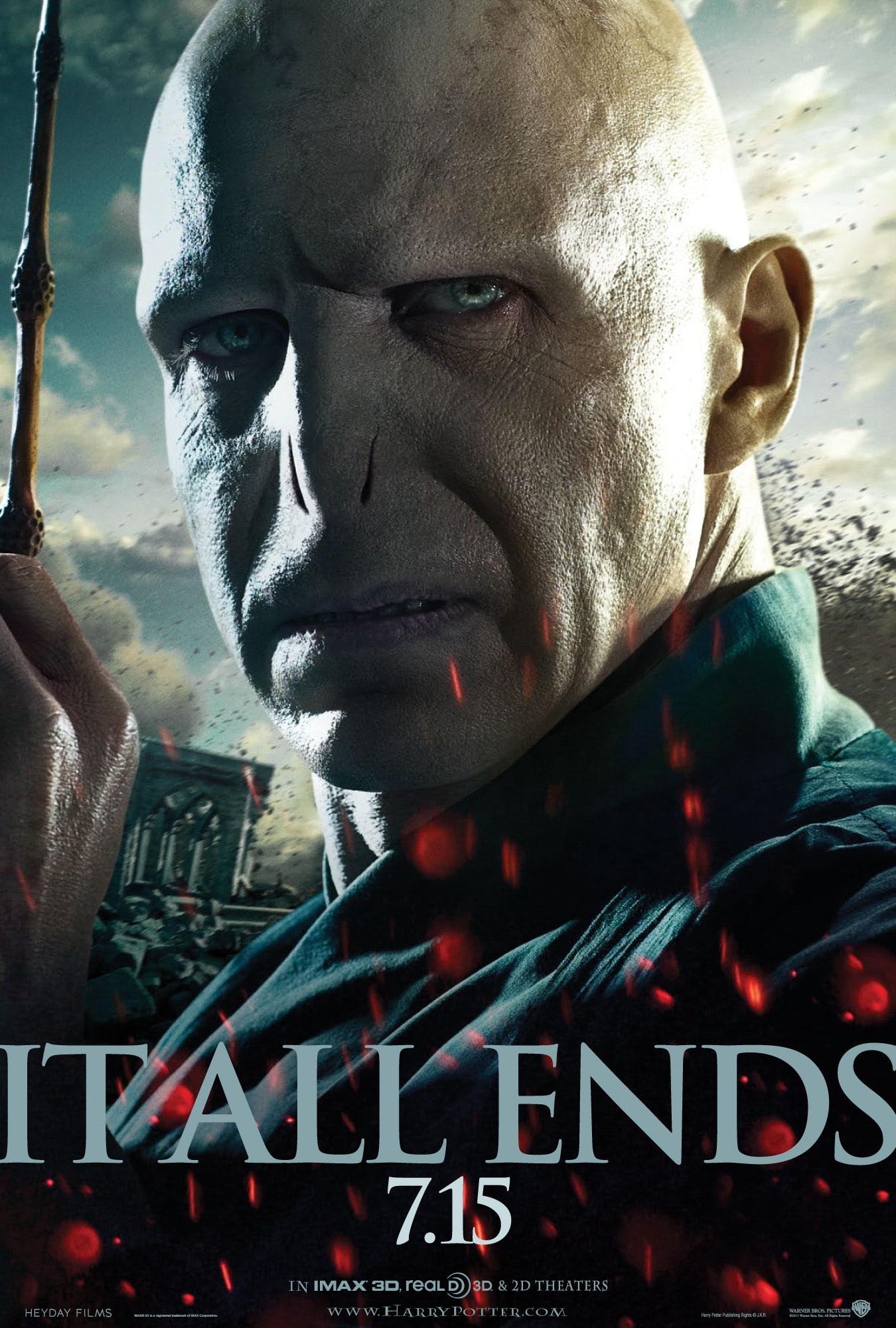 'Deathly Hallows: Part 2' Voldemort poster #3