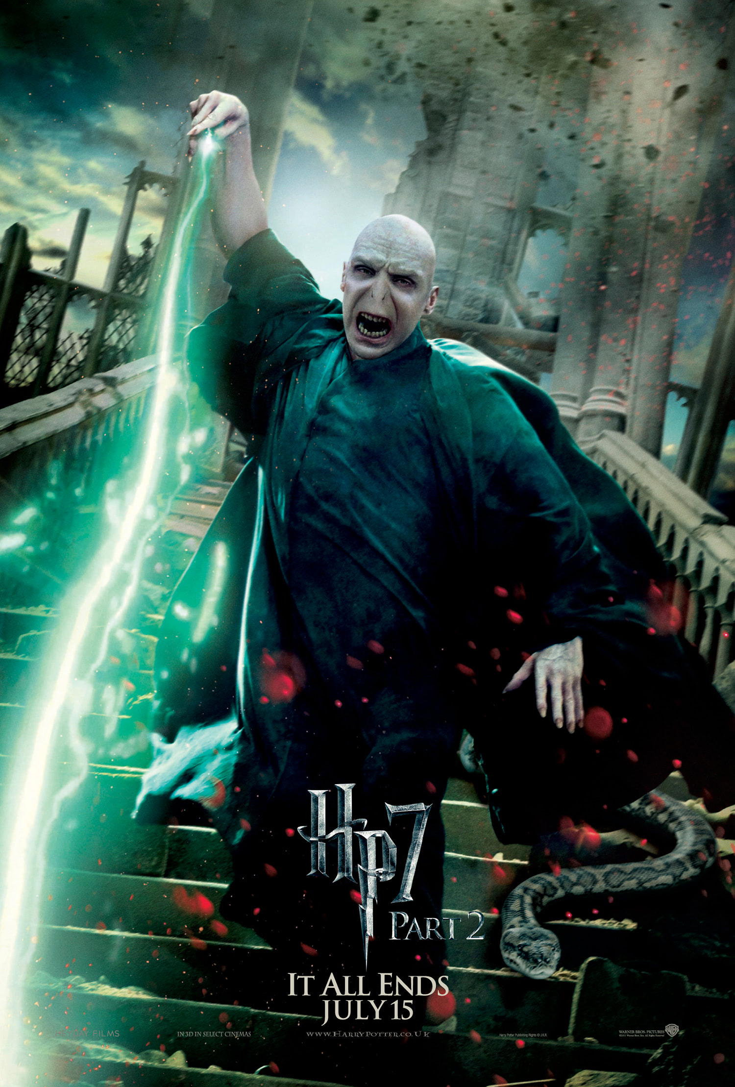 'Deathly Hallows: Part 2' Voldemort poster