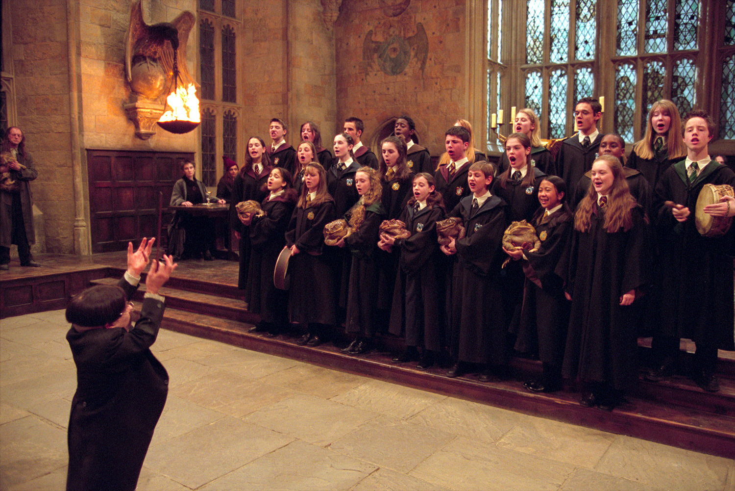 Hogwarts choir singing Double Trouble