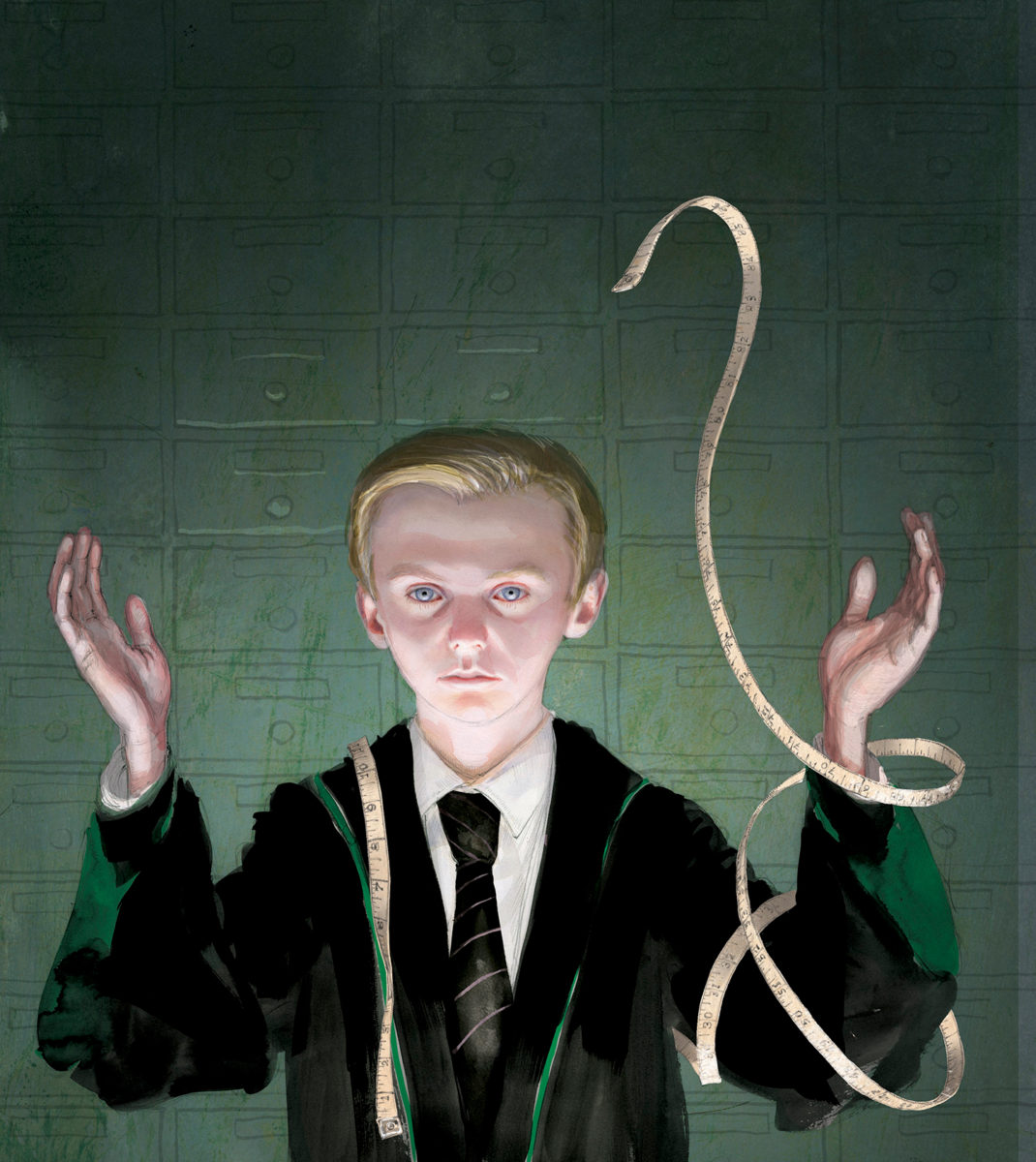 Draco Malfoy in Madam Malkin's