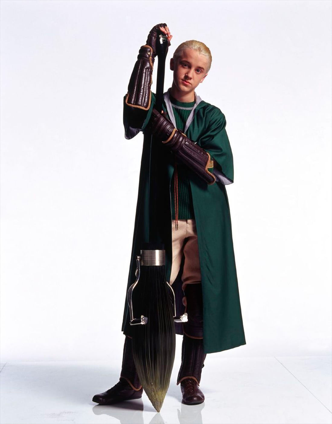 Portrait of Draco Malfoy in Quidditch robes