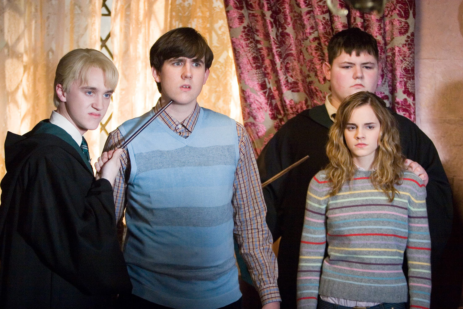 Draco, Neville, Crabbe and Hermione