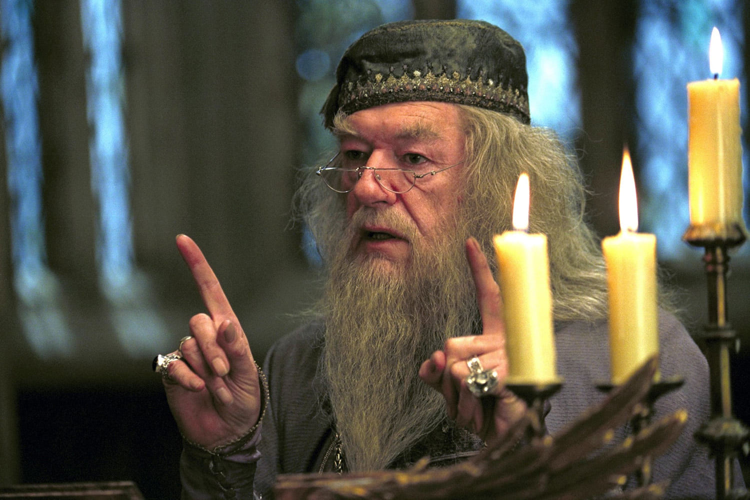 Dumbledore and candles