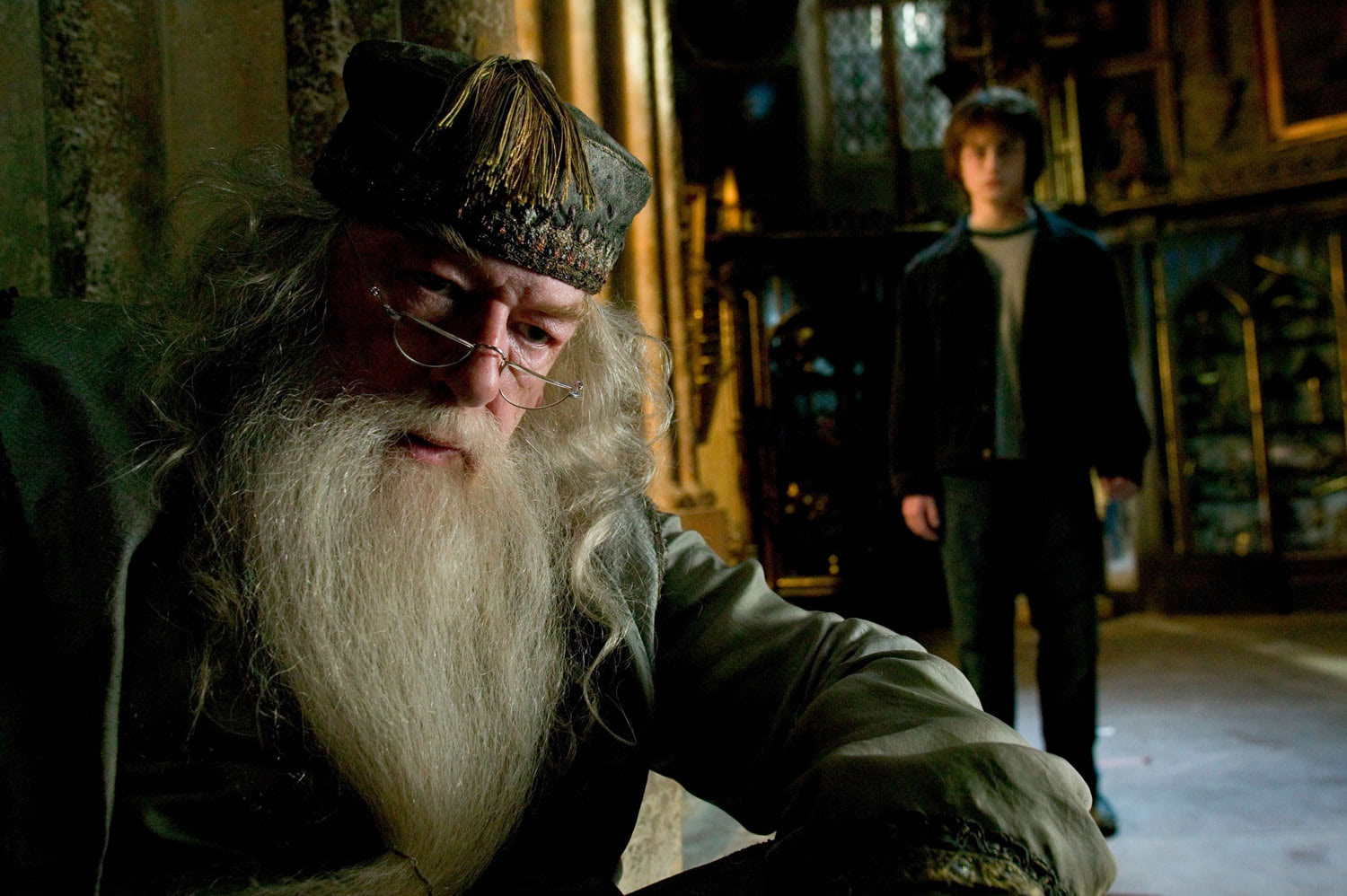 Harry in Dumbledore's office
