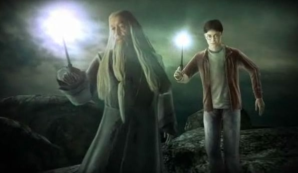 Dumbledore and Harry (Half-Blood Prince video game)