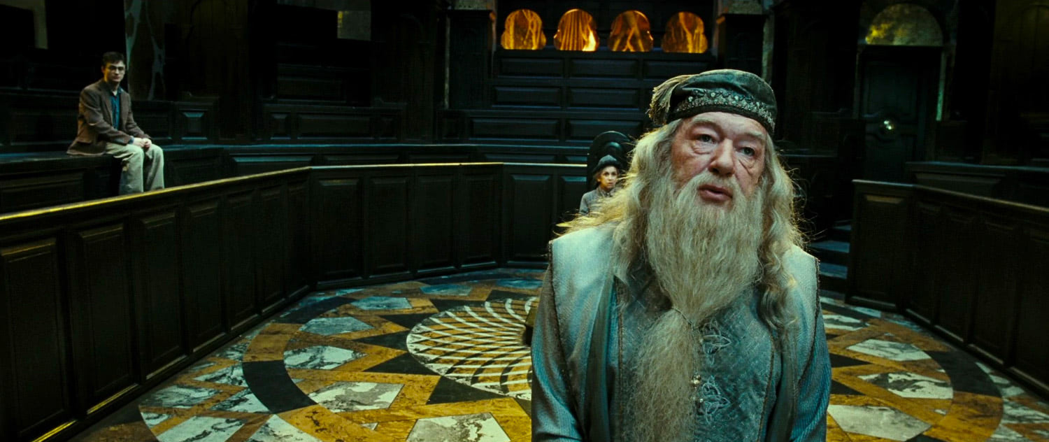 Dumbledore at Harry's hearing