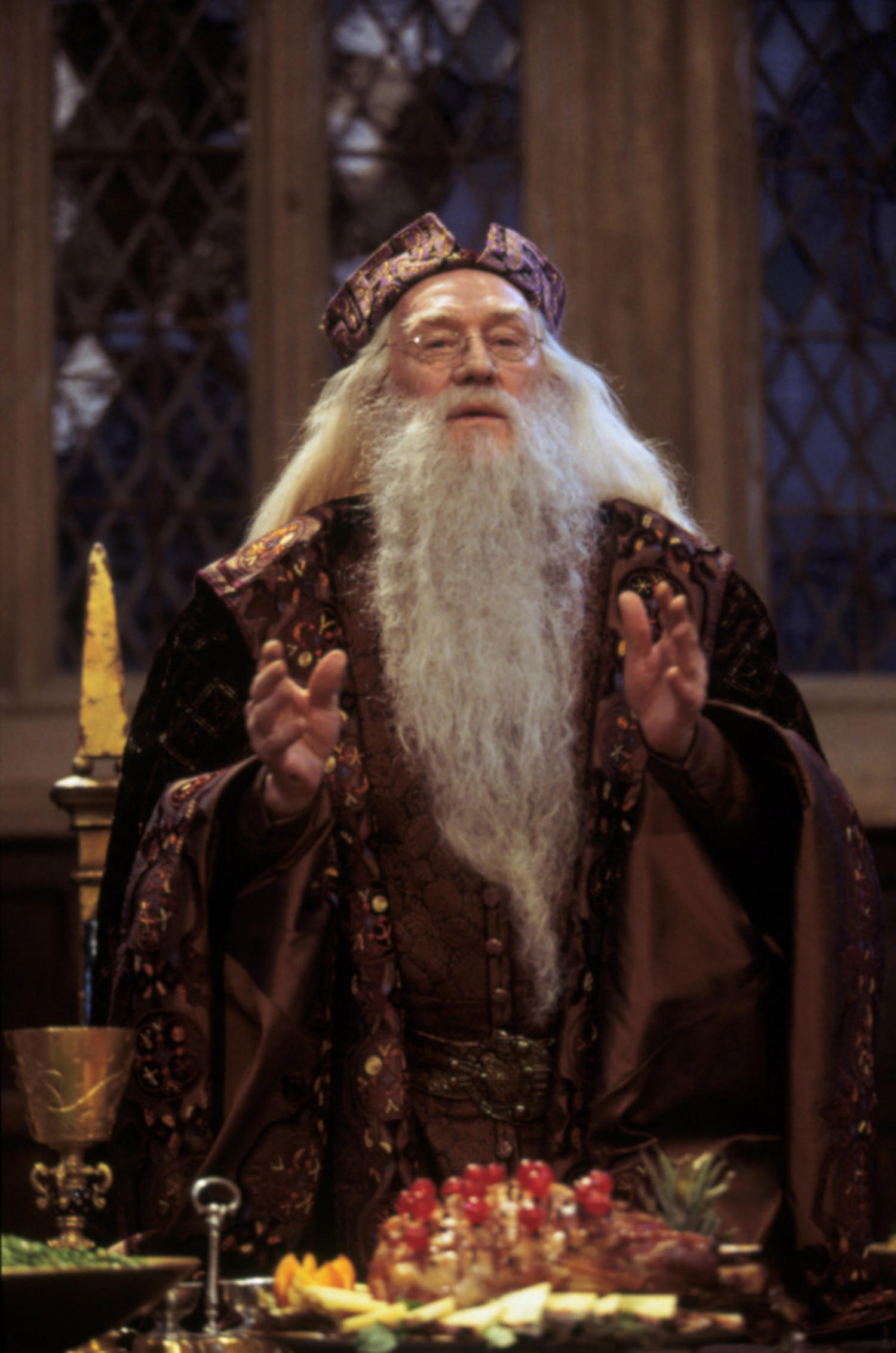 Dumbledore at the Great Hall feast