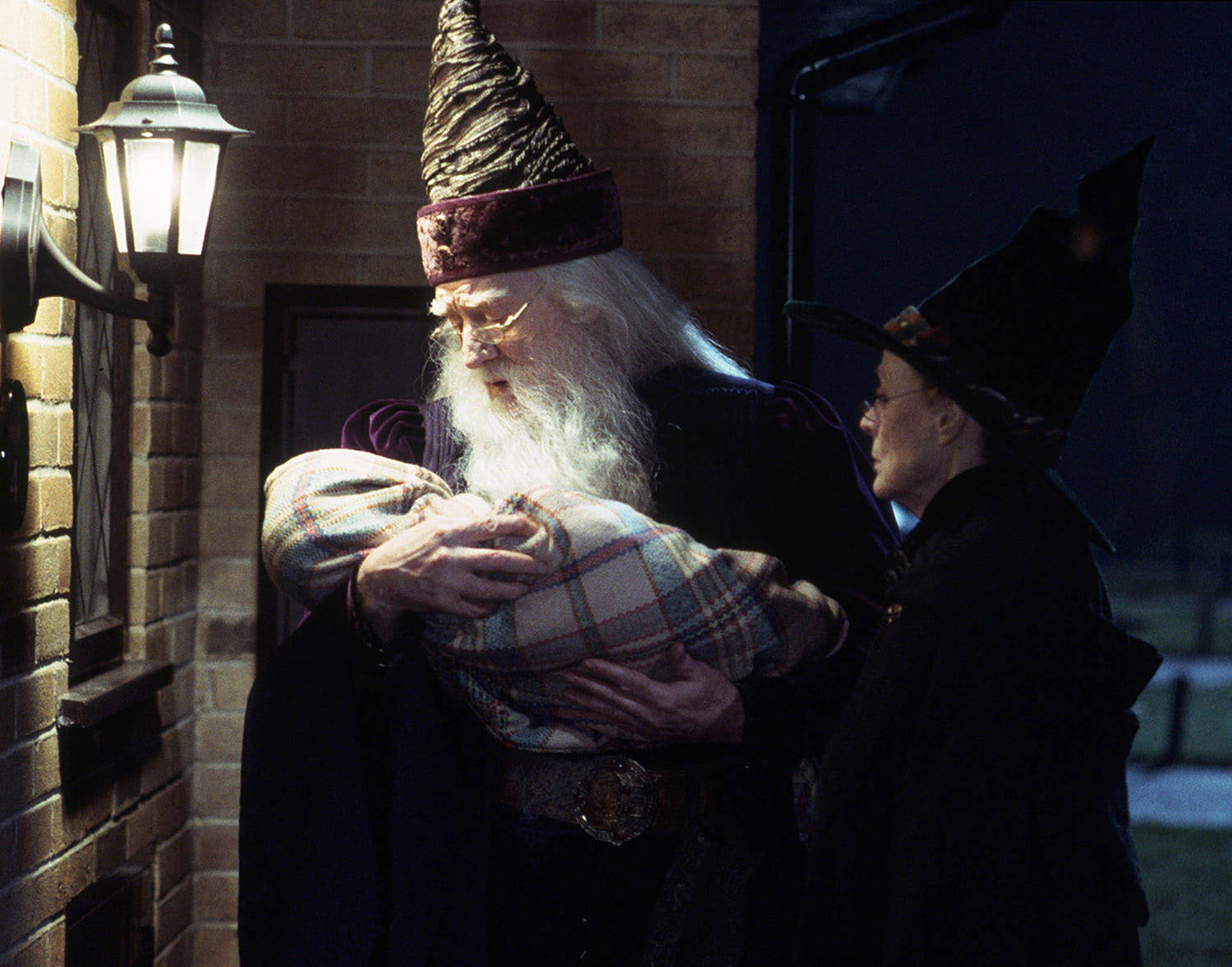 Dumbledore delivers baby Harry