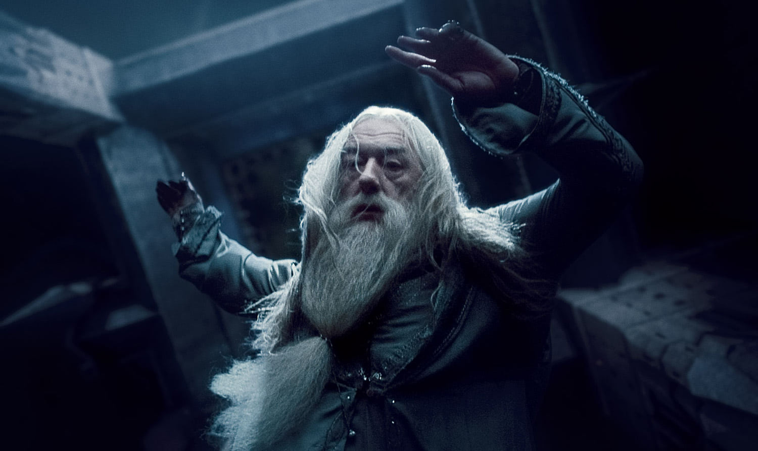 Dumbledore falls to his death