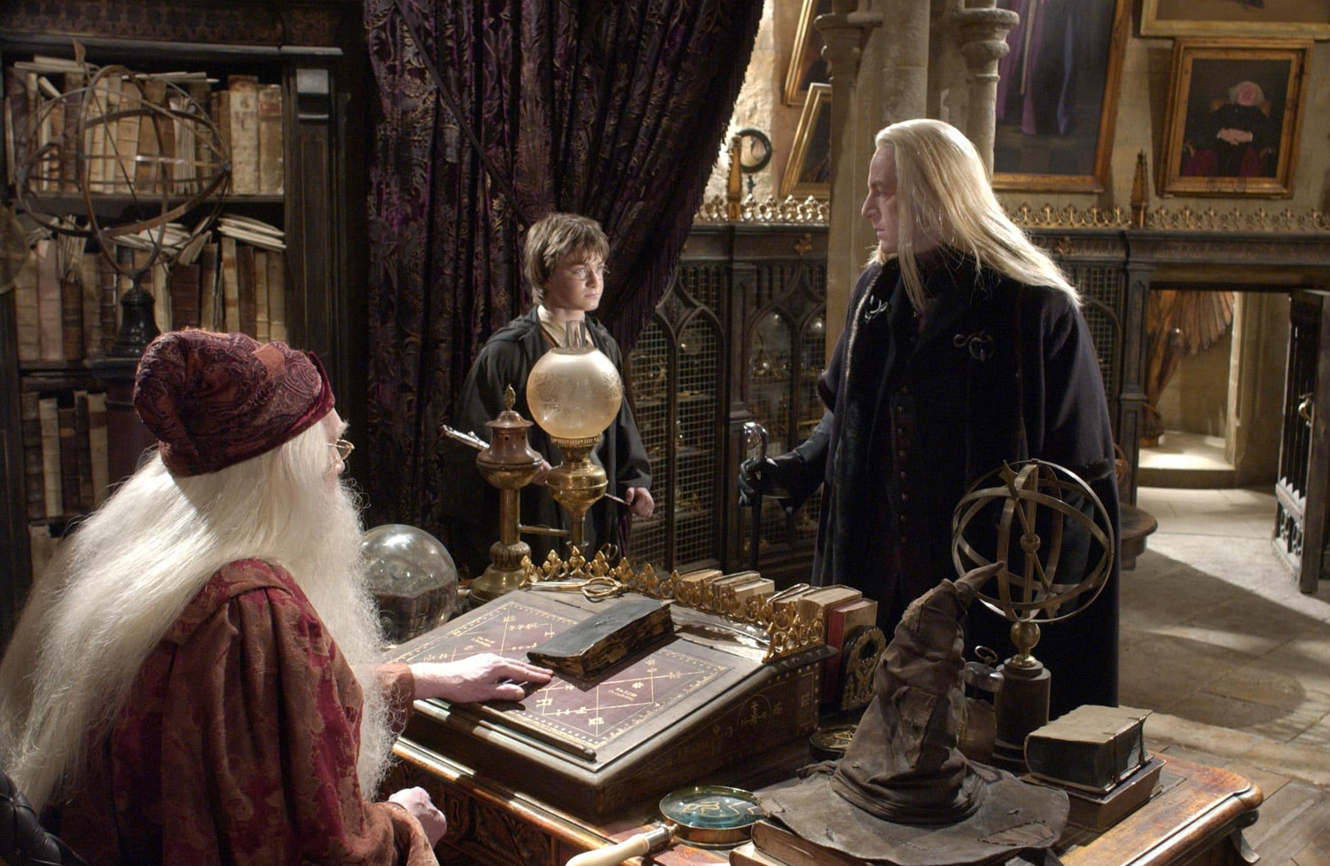 Dumbledore, Harry and Lucius Malfoy