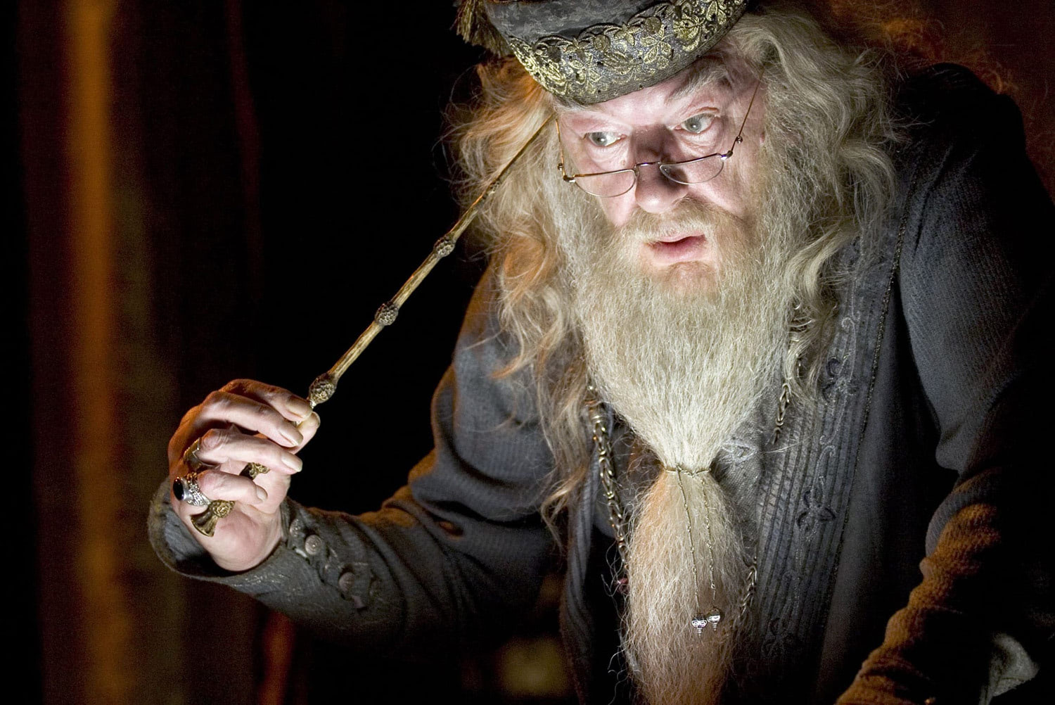 Dumbledore prepares to extract a memory