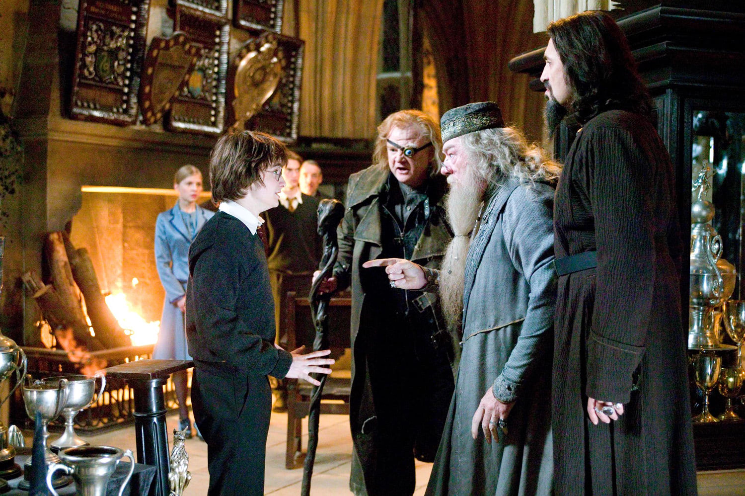 Dumbledore questions Harry after Triwizard selection