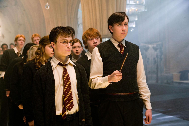 Dumbledore's Army casting spells