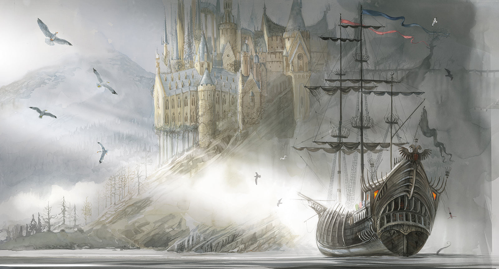 First Look At Illustrated Beauxbatons Carriage And Durmstrang Ship Harry Potter Fan Zone Durmstrang has, however, taught students from as far afield as bulgaria. durmstrang ship harry potter fan zone