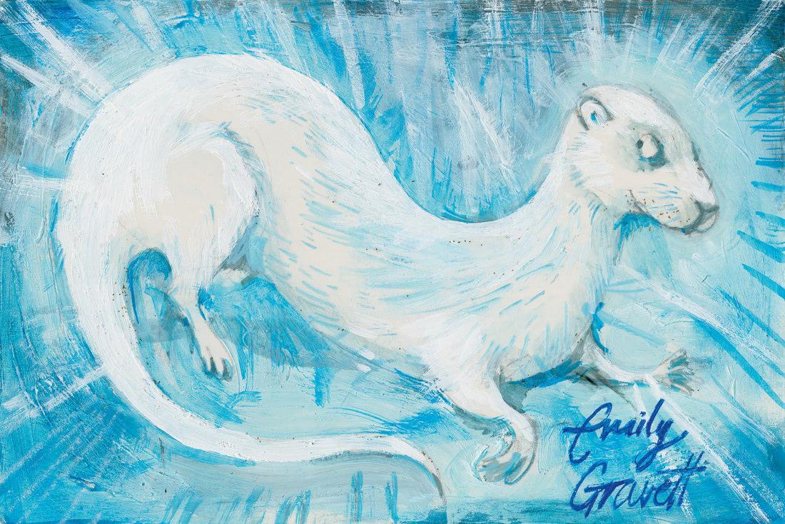 Otter (Emily Gravett Patronus on a Postcard)