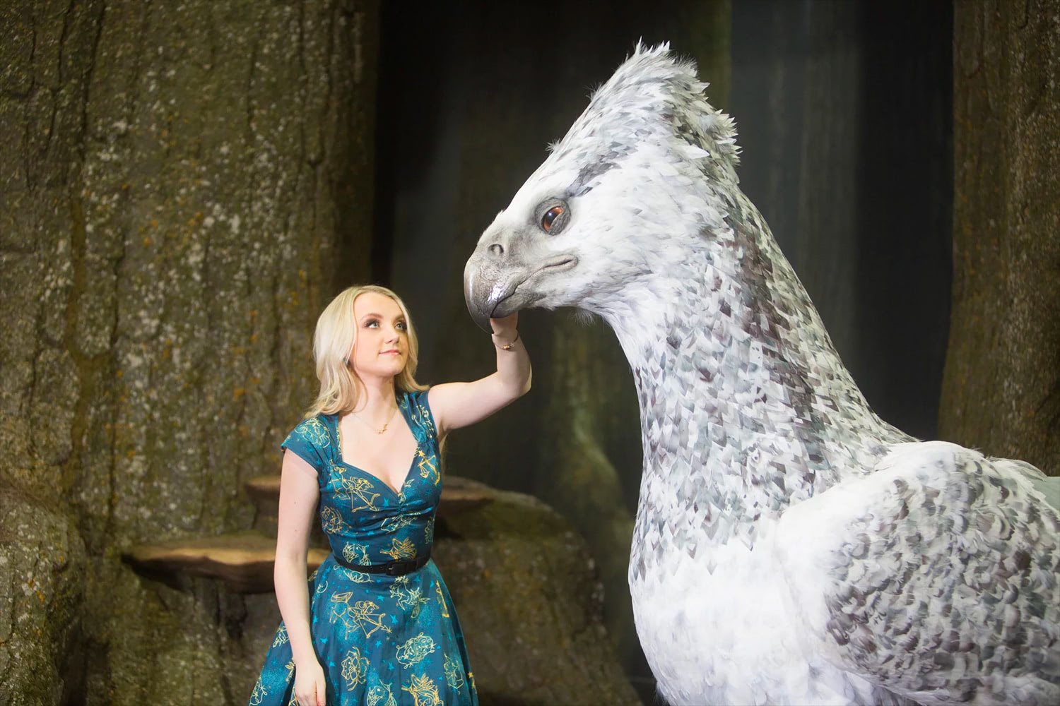 Evanna Lynch and Buckbeak at the Forbidden Forest expansion