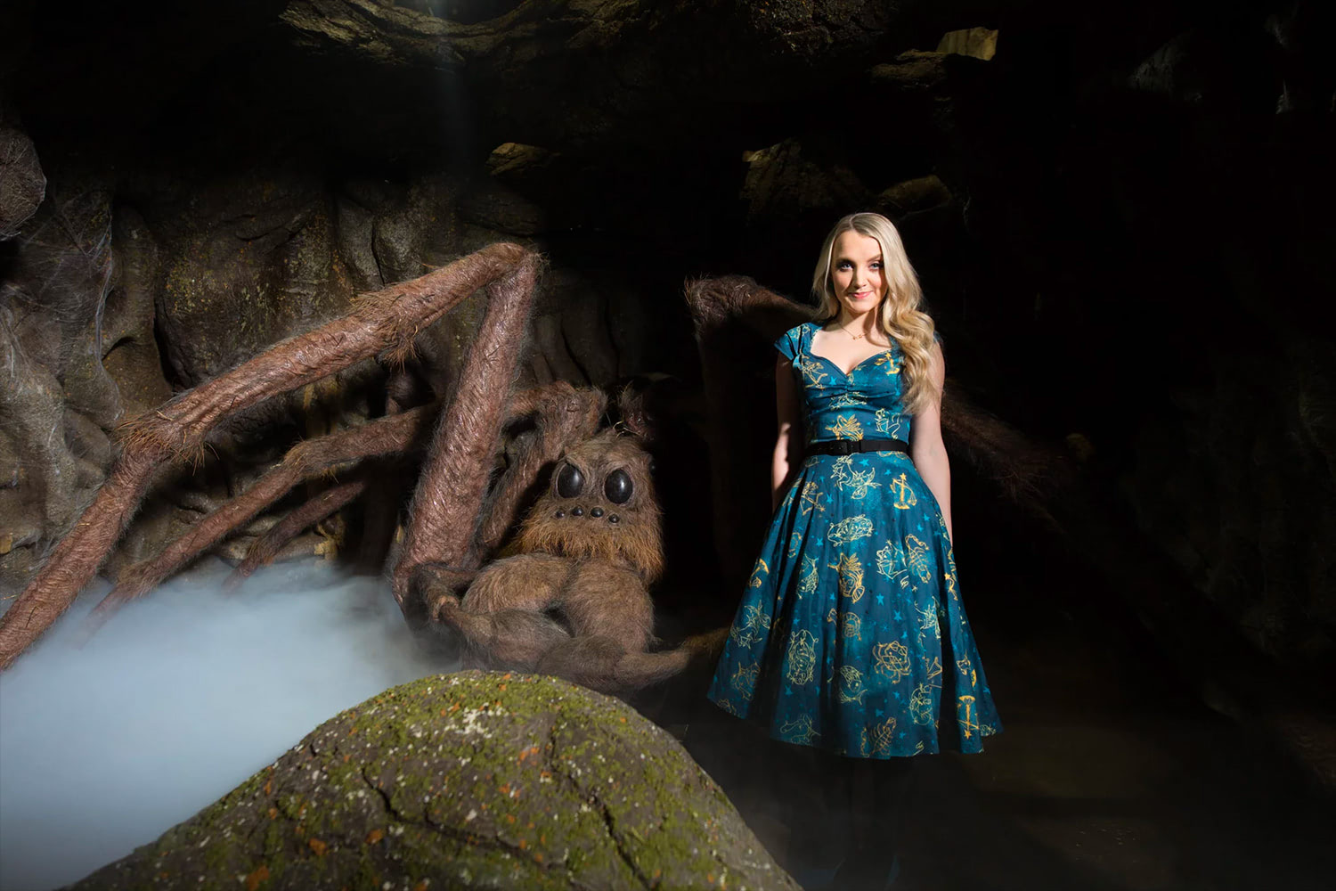 Evanna Lynch and Aragog at the Forbidden Forest expansion