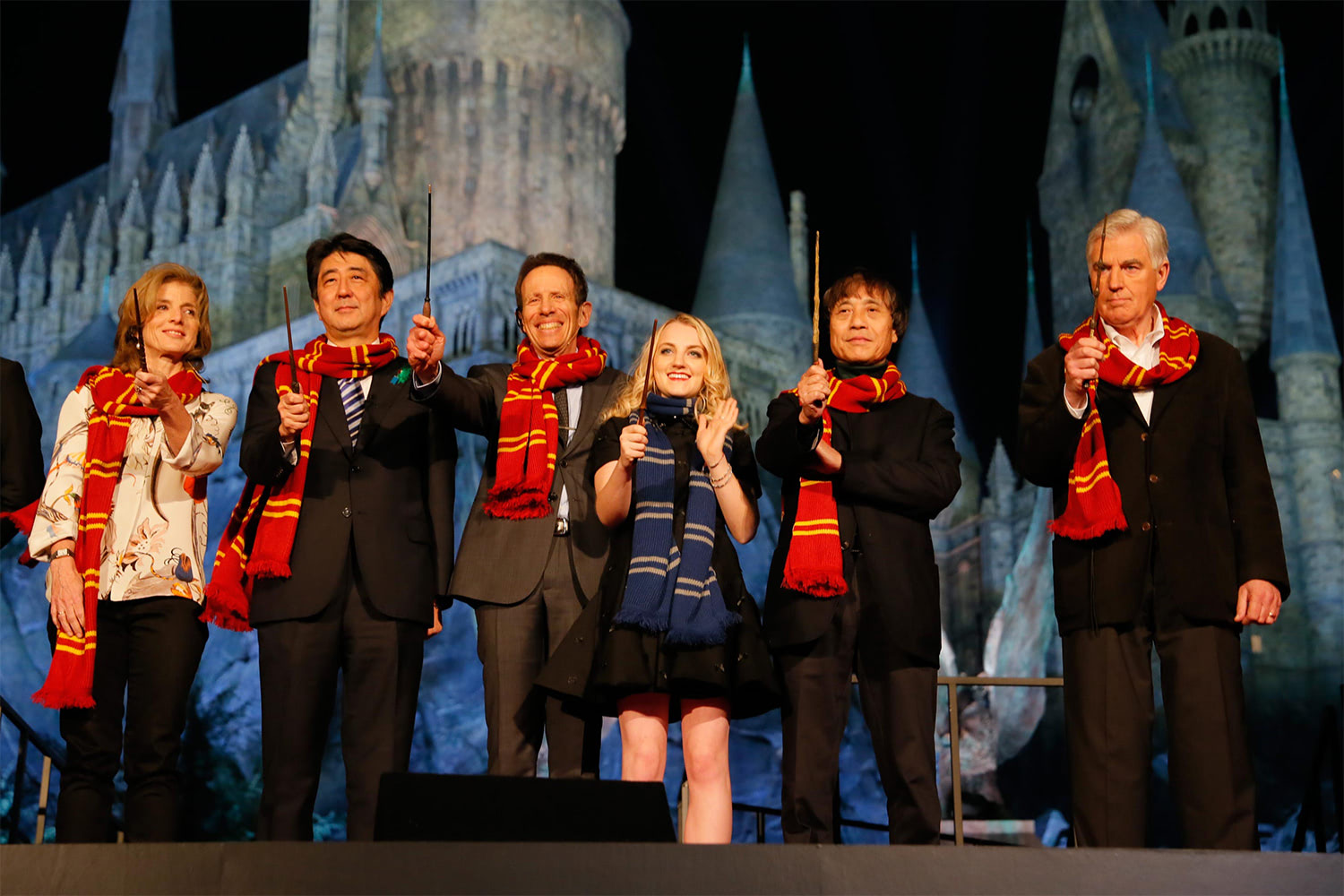 Evanna Lynch and Stuart Craig at the Japanese 'Harry Potter' theme park