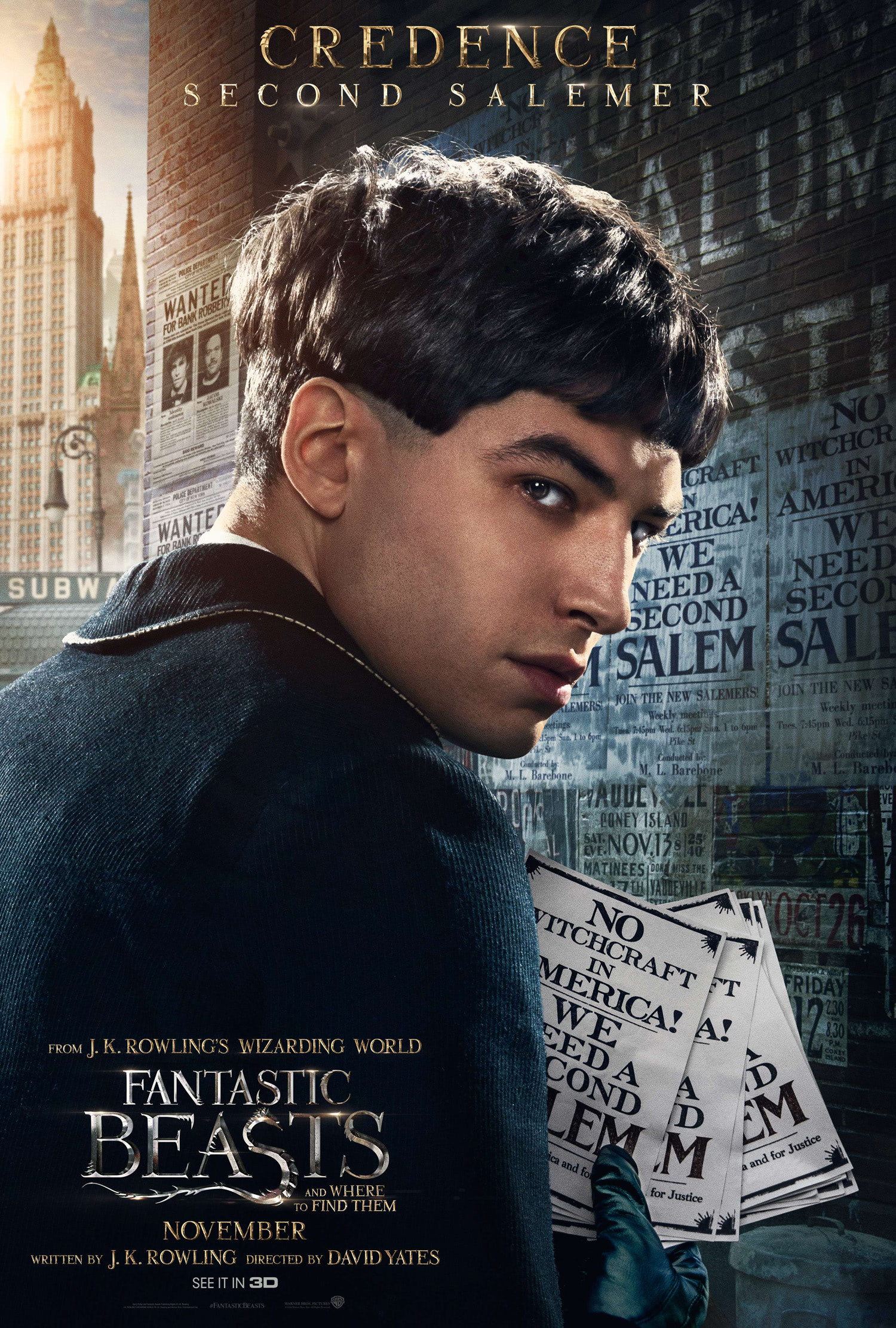 'Fantastic Beasts and Where to Find Them' Credence poster
