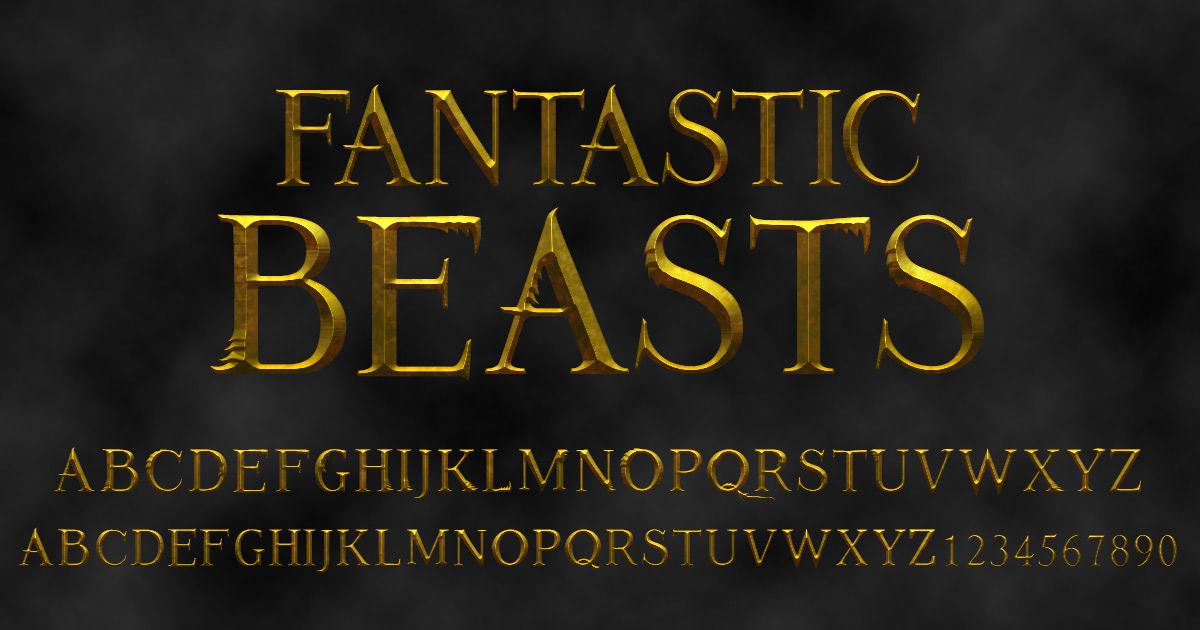 'Fantastic Beasts' font