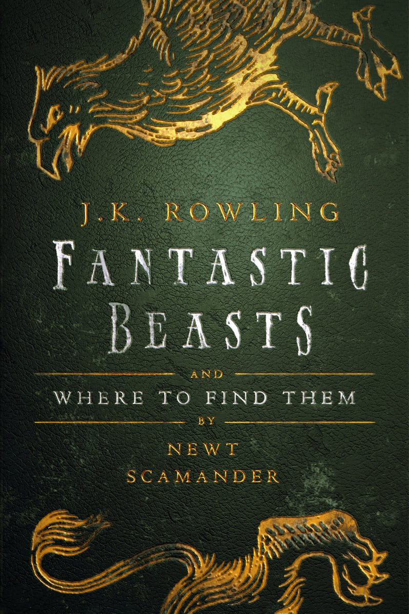 'Fantastic Beasts and Where to Find Them' Hogwarts Library edition (Olly Moss Ebook cover)