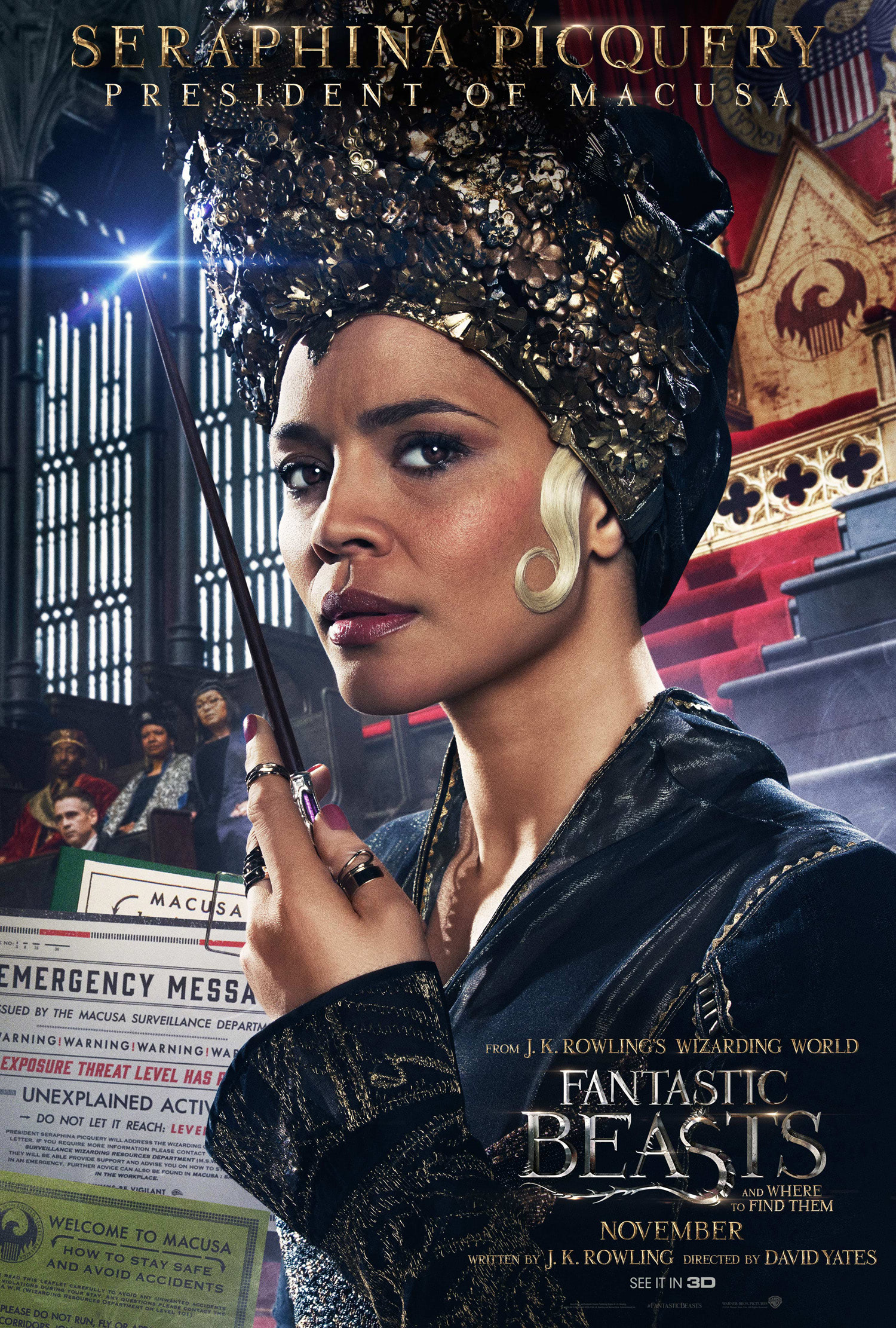'Fantastic Beasts and Where to Find Them' Seraphina Picquery poster