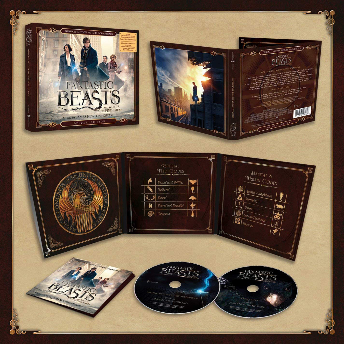 'Fantastic Beasts and Where to Find Them' deluxe soundtrack pack