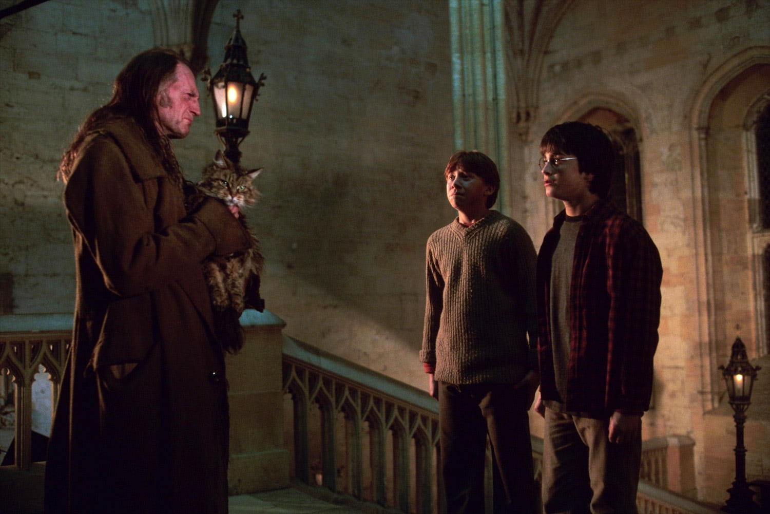 Filch catches Harry and Ron