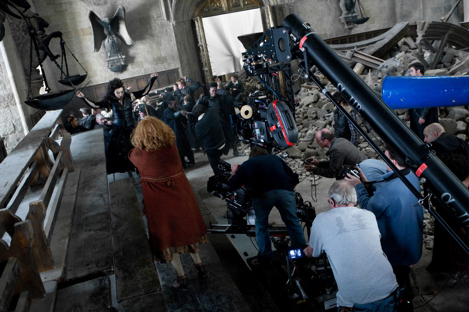 Filming Bellatrix's death scene