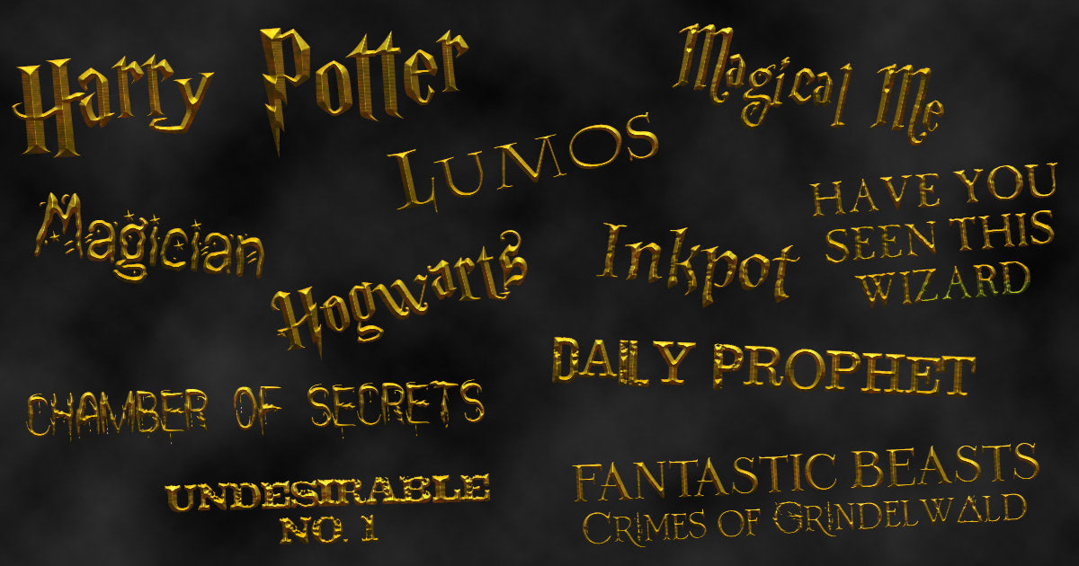 Fonts Harry Potter Fan Zone