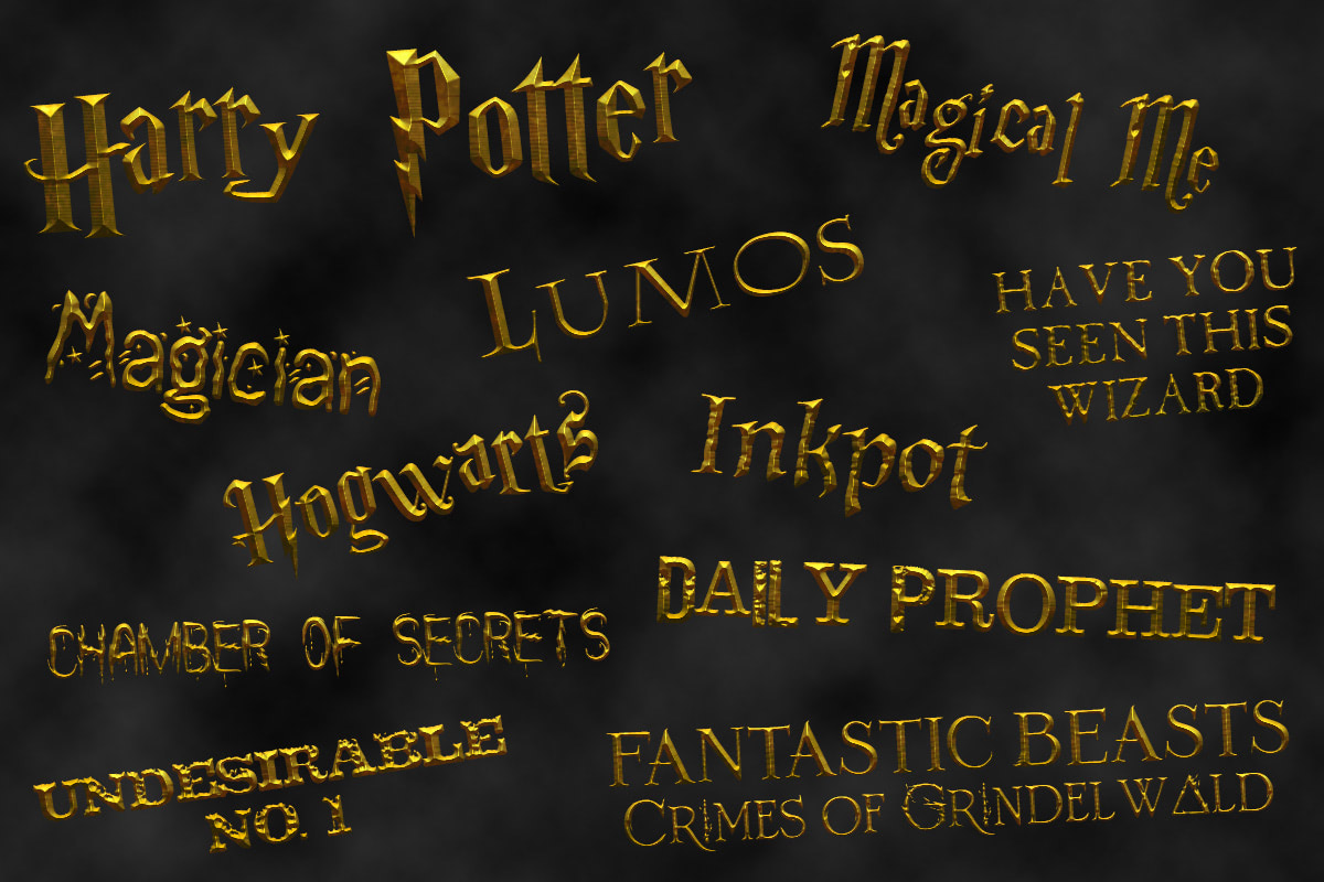 Free 'Harry Potter' fonts