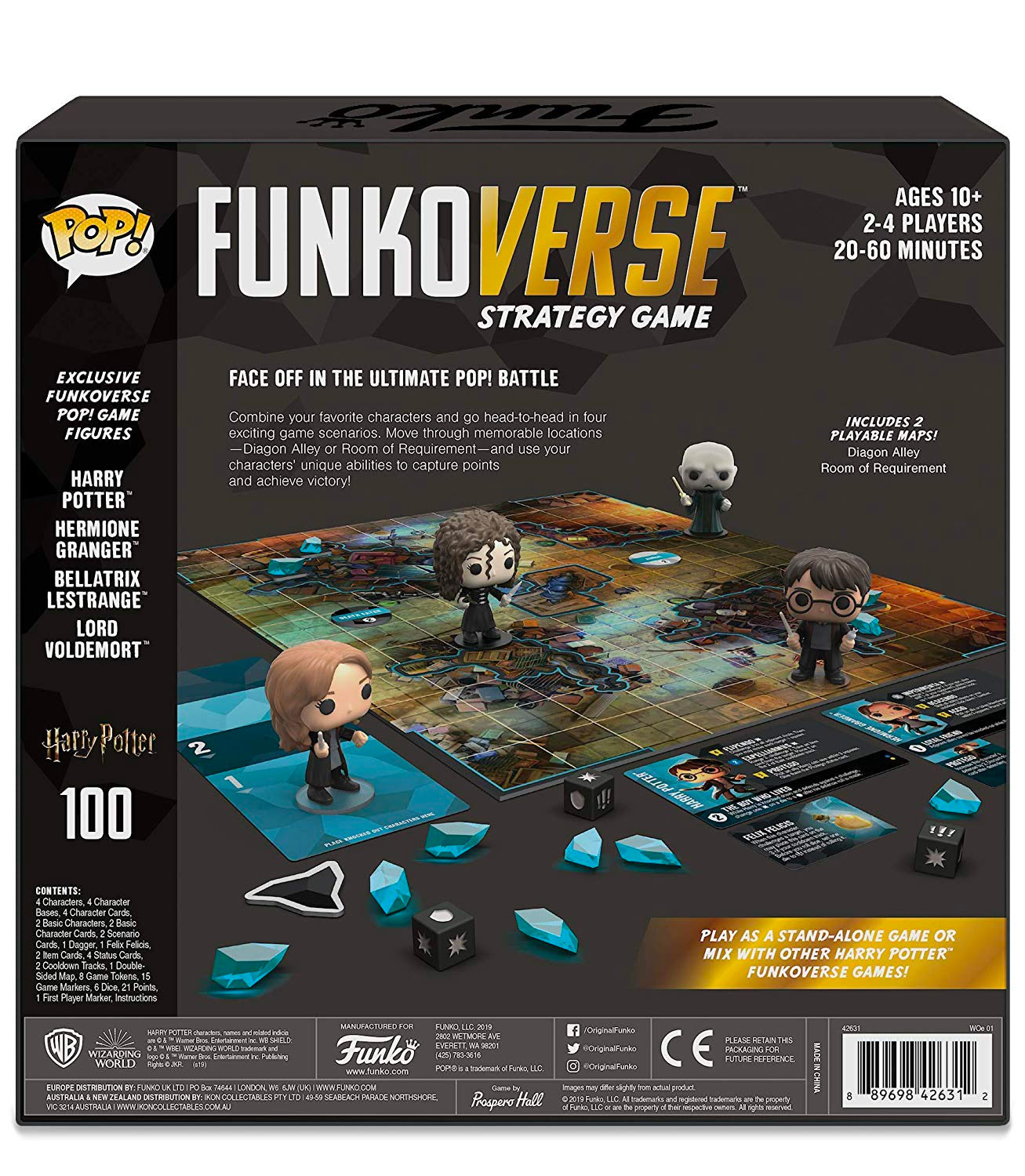Funkoverse 'Harry Potter' Strategy Game 100 (back of box)