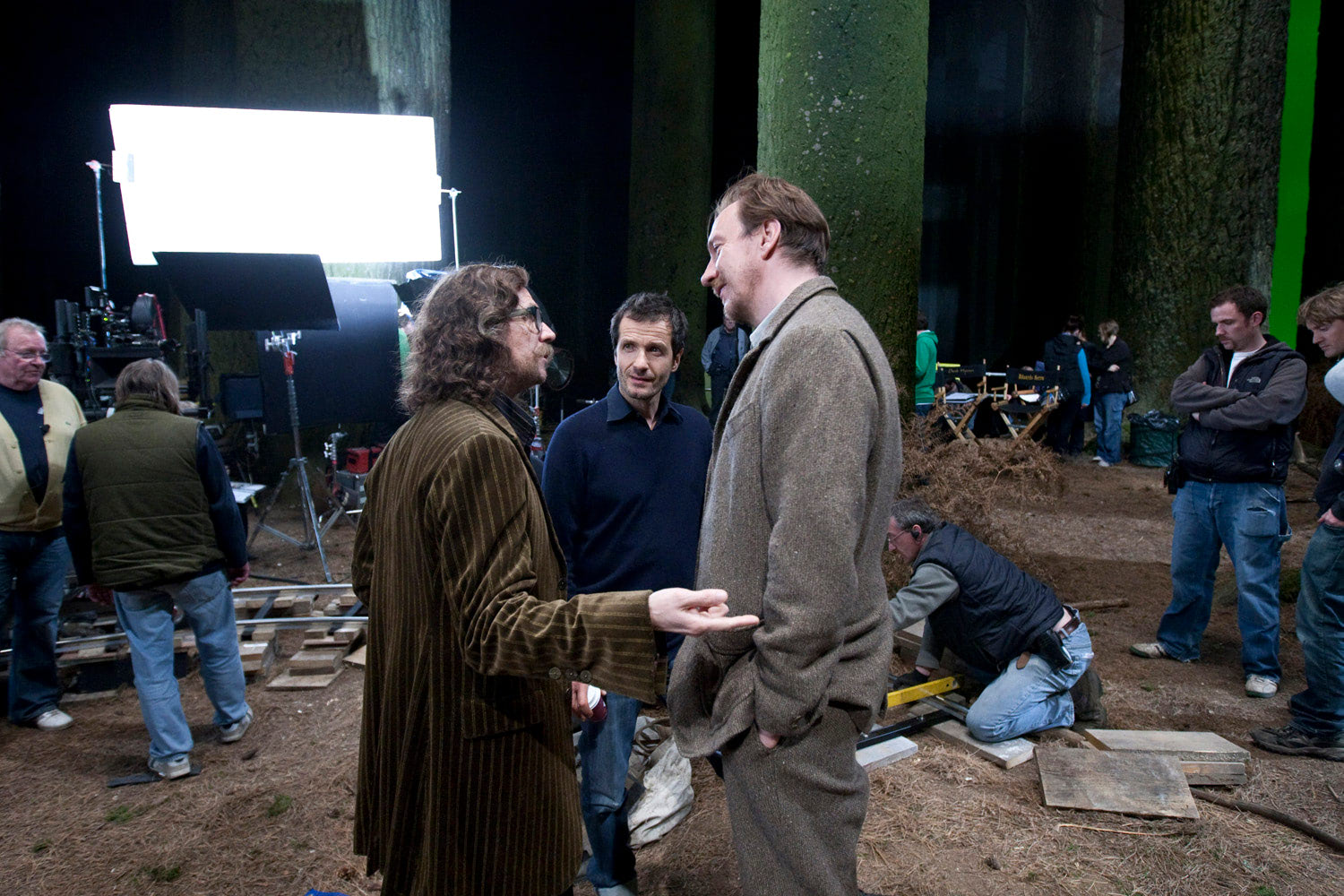 Gary Oldman and David Thewlis in the Forbidden Forest