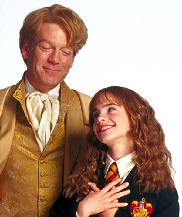 Portrait of Gilderoy Lockhart and Hermione Granger