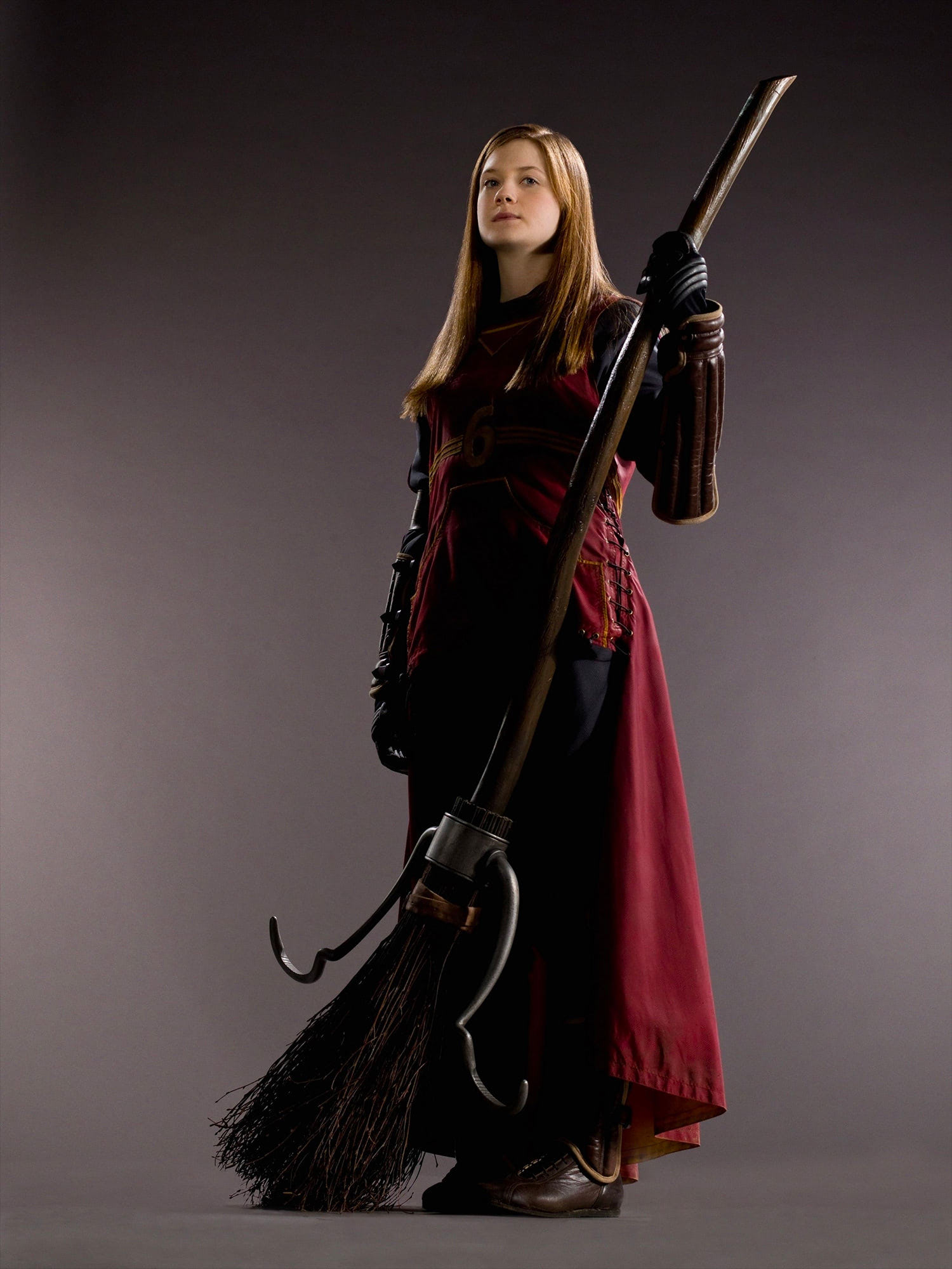 Portrait of Ginny Weasley in Quidditch robes