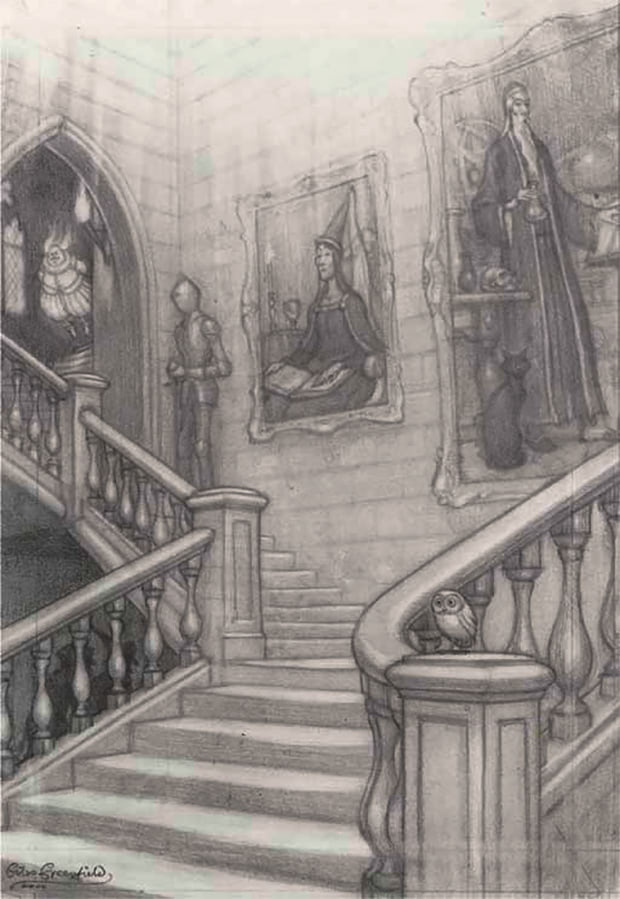 'Goblet of Fire' original back cover sketch (Giles Greenfield)