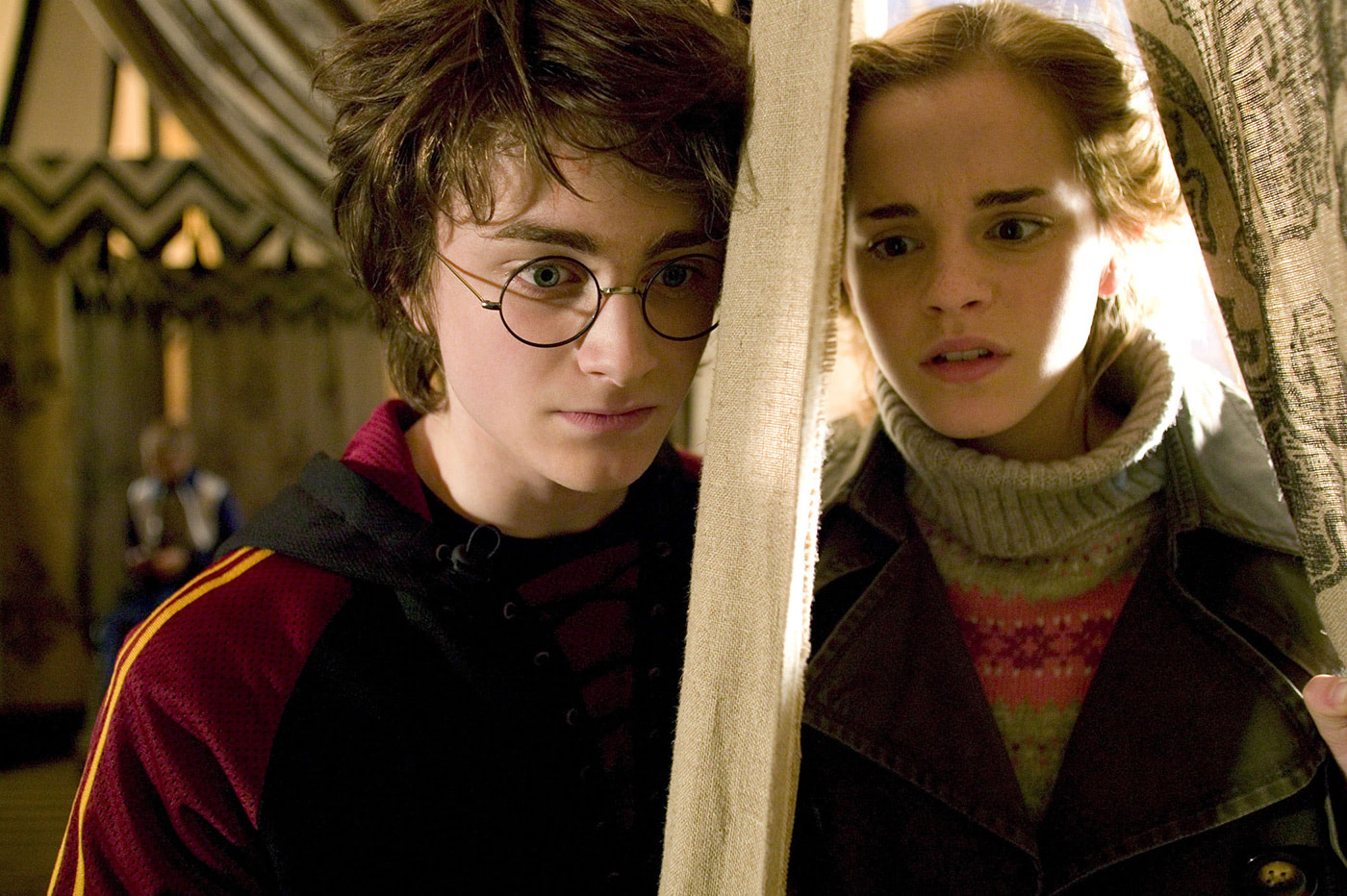 Harry and Hermione before the First Task