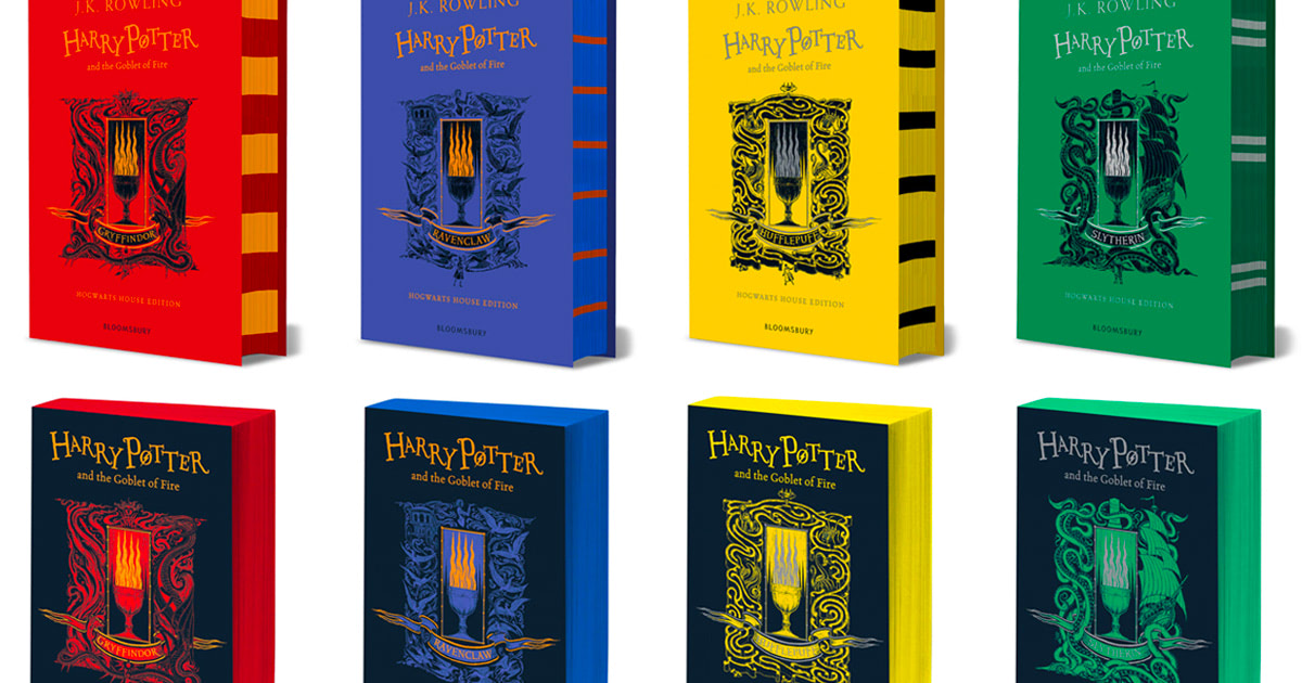 Bloomsbury unveil 20th anniversary house editions of 'Goblet of Fire'