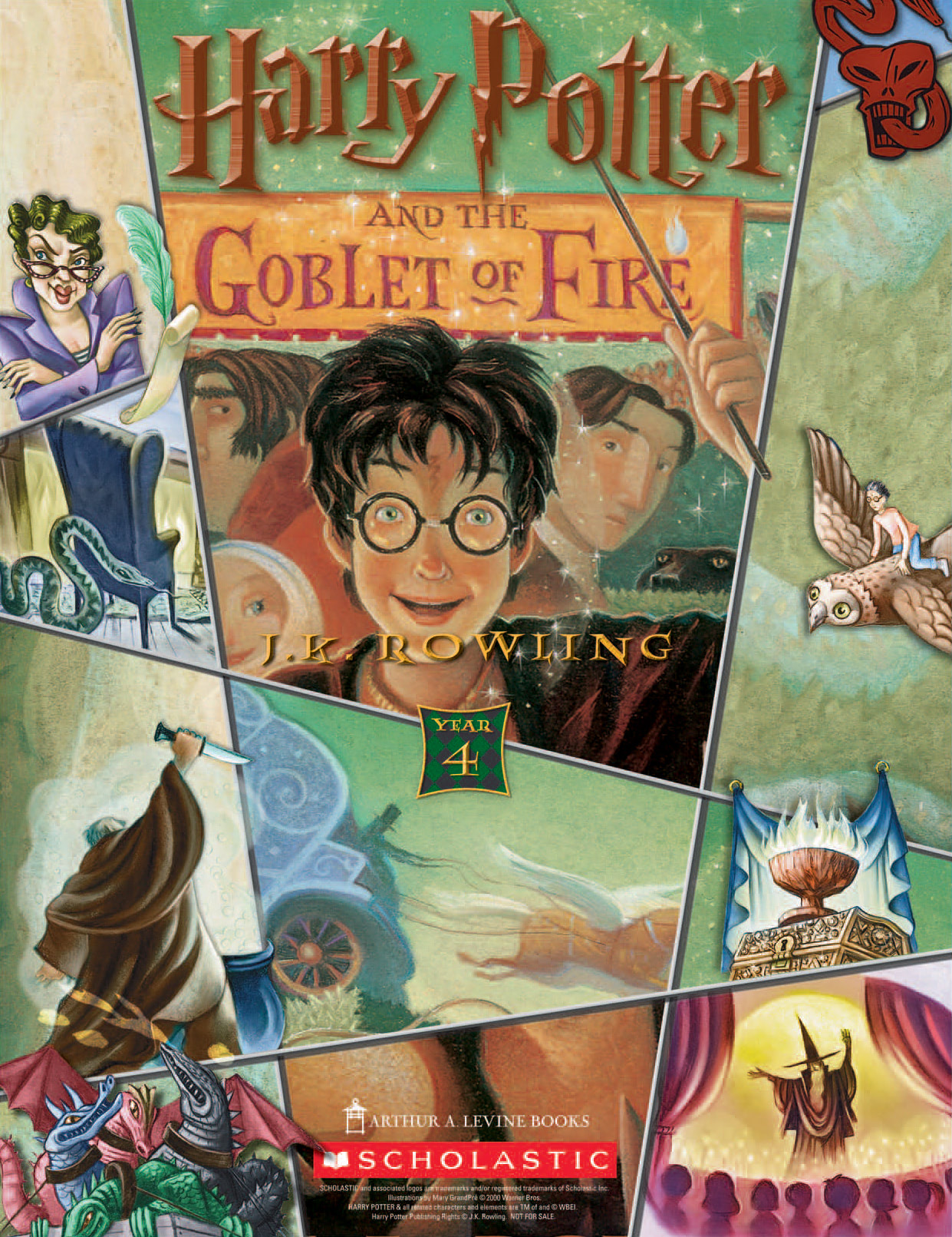 'Goblet of Fire' (Year 4) Scholastic promotional poster