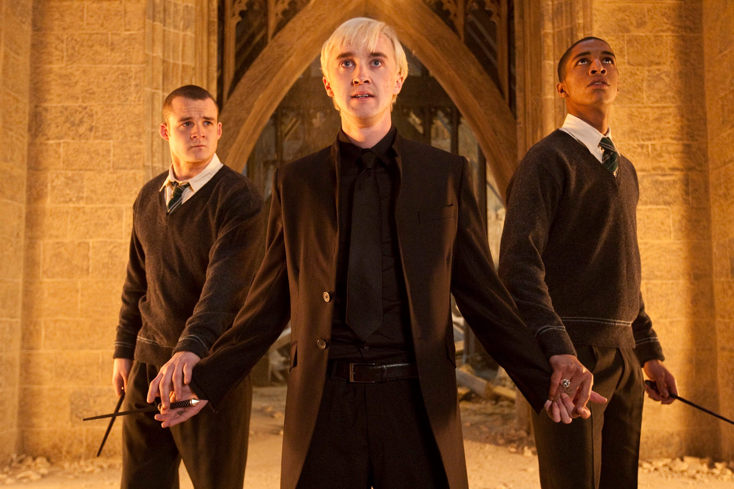 Goyle, Draco and Zabini at Hogwarts