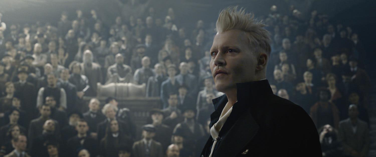 Grindelwald addresses his audience