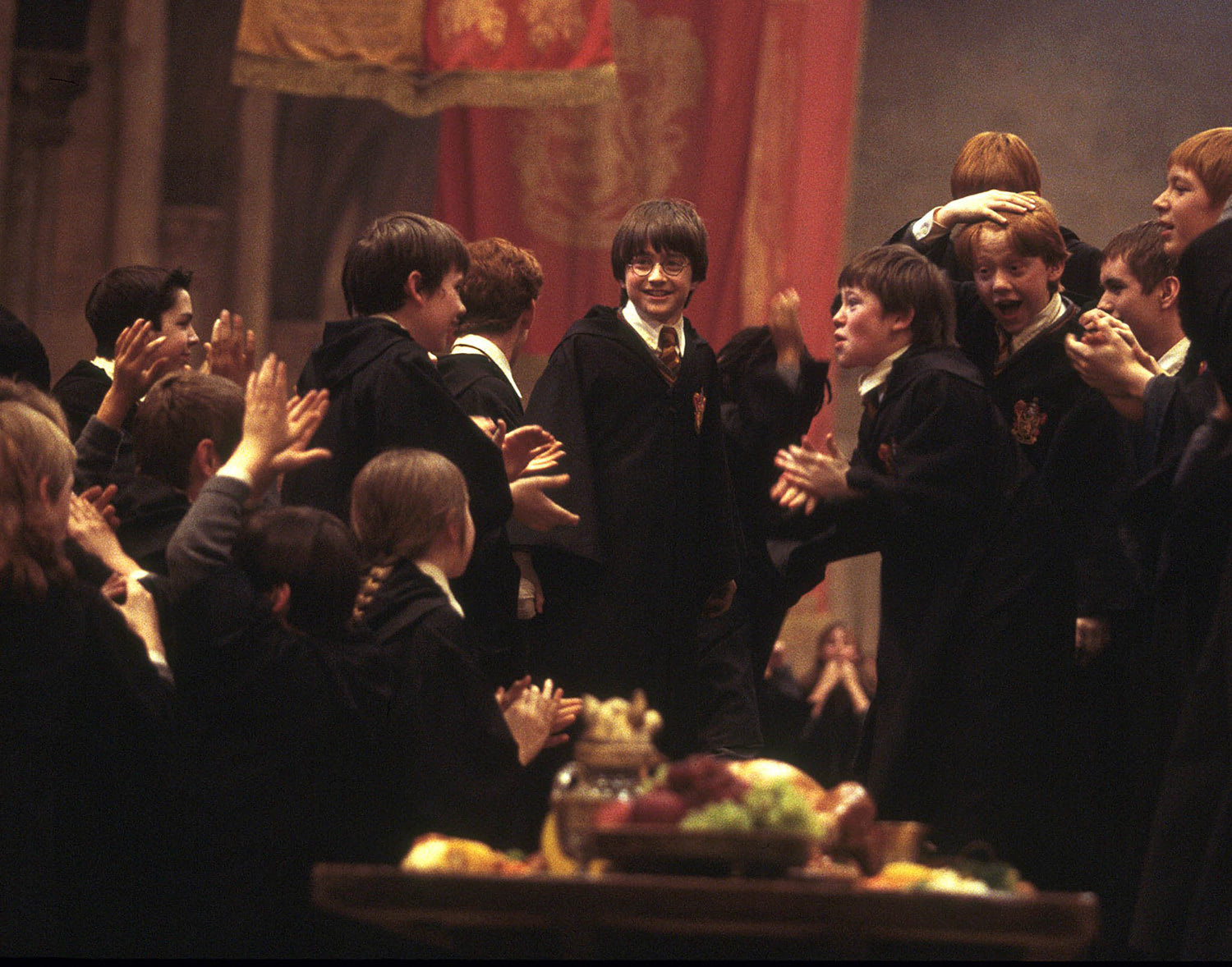 Gryffindor celebrates the House Cup