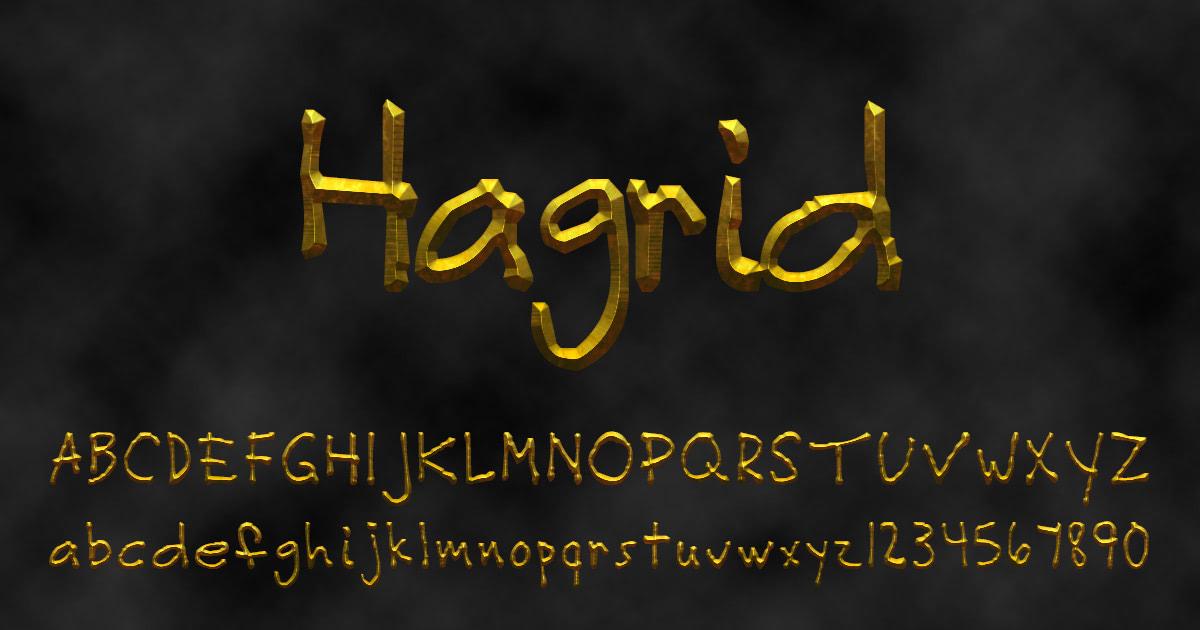 Download free 'Hagrid' font