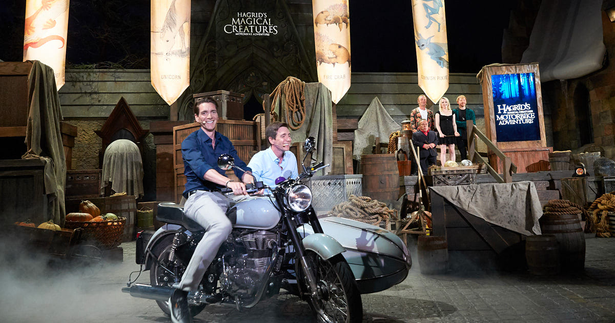 'Harry Potter' stars help launch Hagrid motorbike ride at Universal Orlando