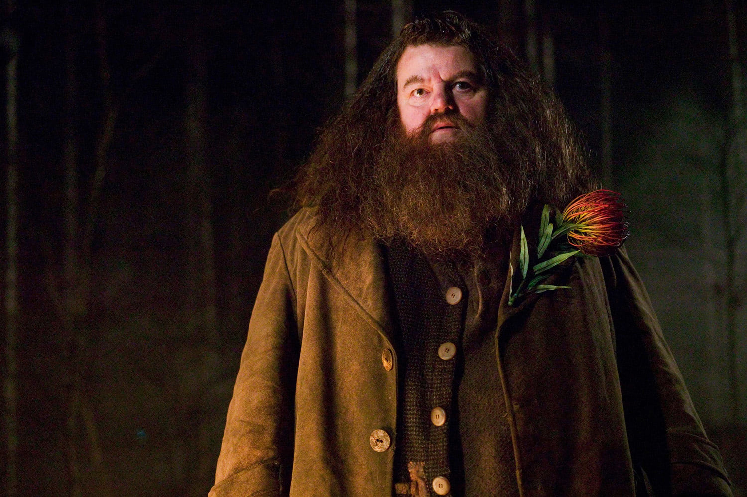 Hagrid with flower
