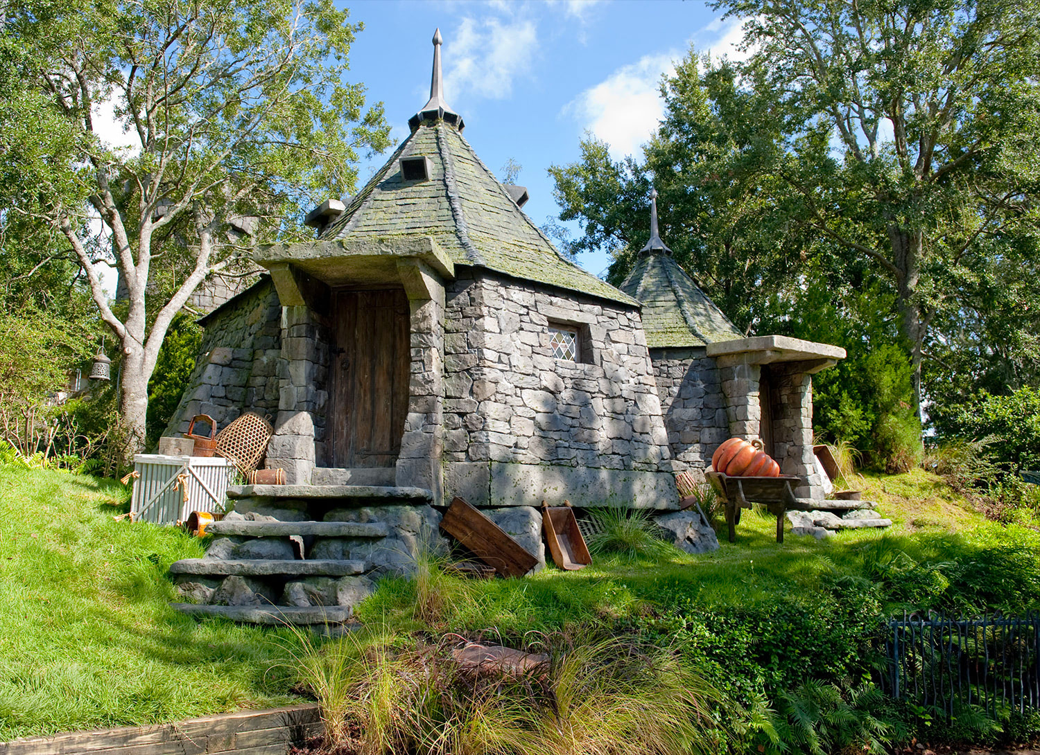 Hagrid's Hut at the 'Harry Potter' theme park