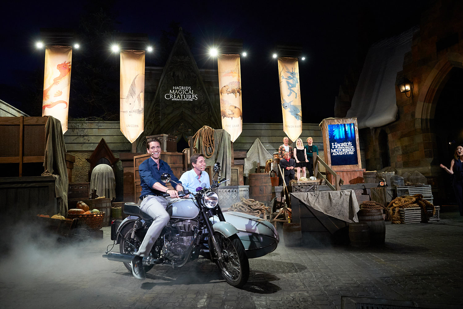 'Harry Potter' cast members launch 'Hagrid's Magical Creatures Motorbike Adventure'