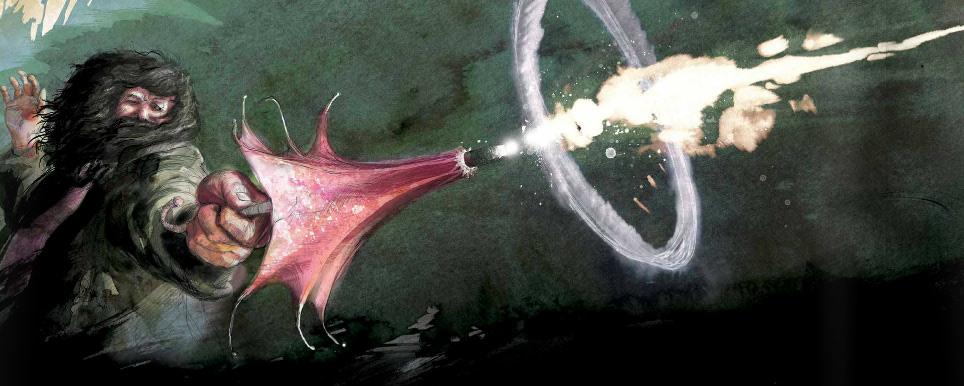 Hagrid's pink umbrella