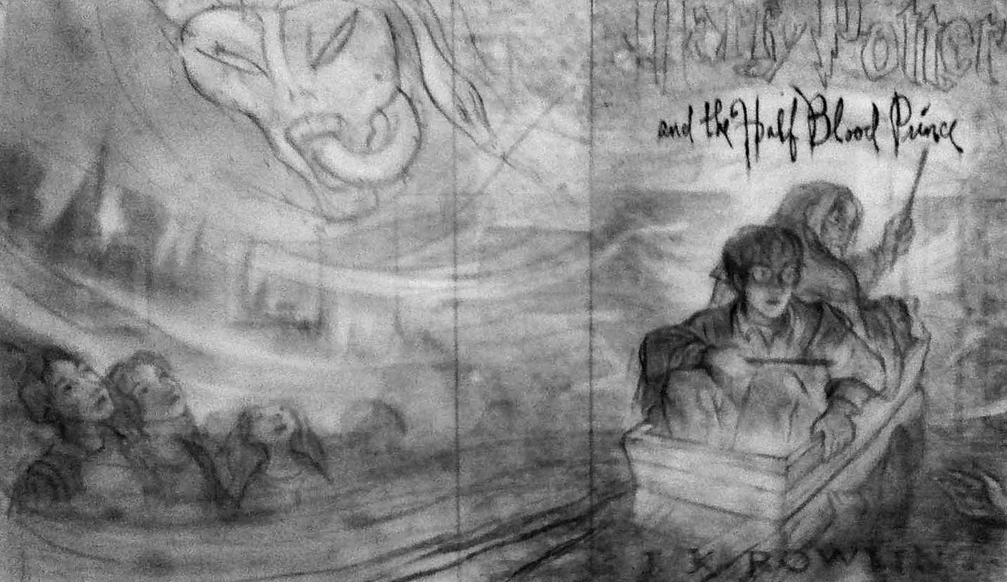 'Half-Blood Price' alternate cover art sketch (Mary GrandPré)